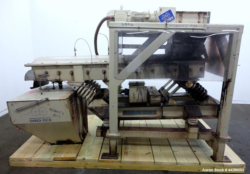 Used- Carbon Steel Shred Tech Twin Shaft Shredder