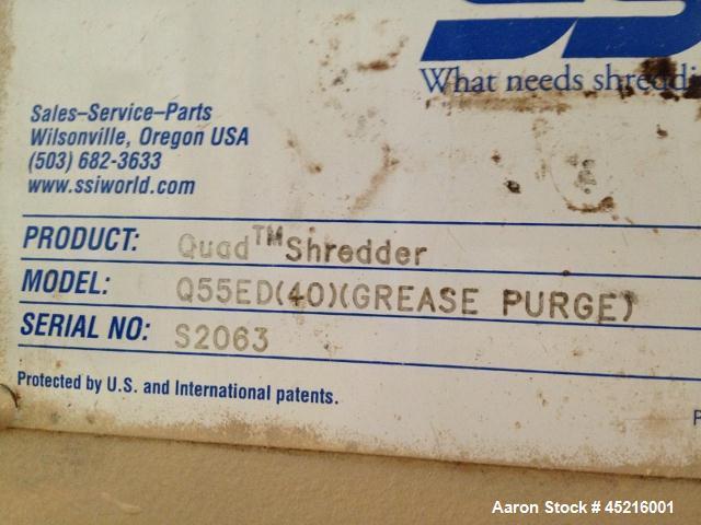 Used-SSI Shredder, Model Quad Q55ED
