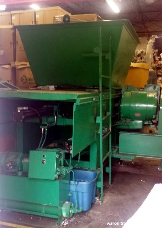 Used SSI Shredding Systems Plastic Shredder; Model SR-375; 75 HP; 3phase 460V/60hz; hydraulic crammer; screw auger; Single S...