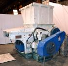 "Used- Vecoplan/Re-Tech Single Shaft Shredder, Carbon Steel. Approximately 14"" diameter x 42"" wide rotor with bolt-on cutters..."