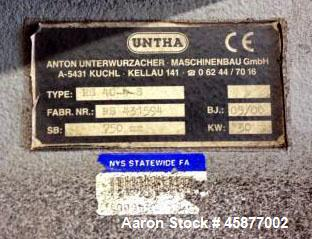 Used- Untha 4-Shaft Shredder, Model RS-40.