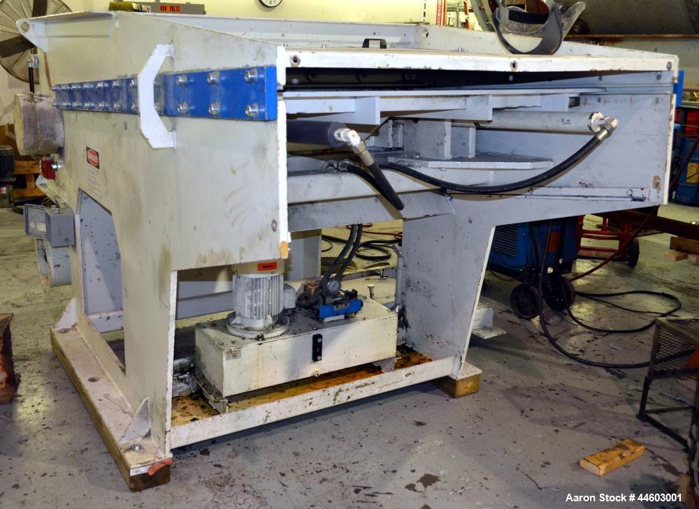 "Used- Vecoplan/ ReTech Single-Shaft Rotary Grinder, Model RG 52-100 SWU Short, Carbon Steel. Approximately 14-9/16"" diameter..."