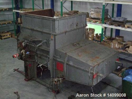 "Used--Vecoplan VAZ 220/200 KNF Single Shaft Shredder, 120 hp/90 kW, 50 hz.  Feed opening 86.6"" x 78.8"" (2200 x 2000 mm), rot..."