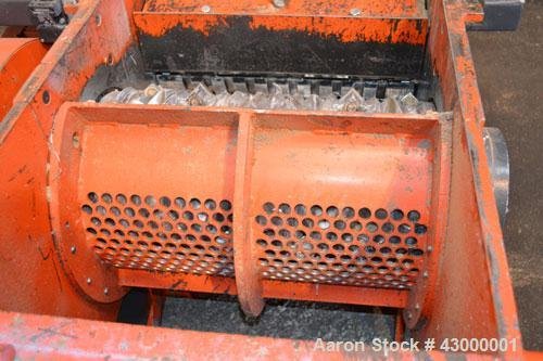 """Used- Weima Slow Speed Shredder, Model WLH600S/45 Leopard, Carbon Steel. Approximately 368mm (14.4"""" diameter) x 24"""" wide (32..."""