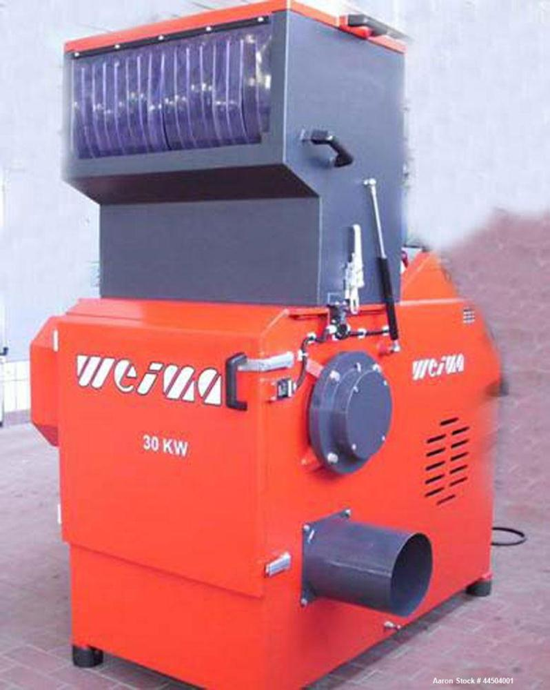 "Used-Weima NZ 6S Single Shaft Shredder.  Feed opening 11.8"" x 31.4"" (300 x 800 mm).  (10) Rotor blades.  (2) Stator knives. ..."