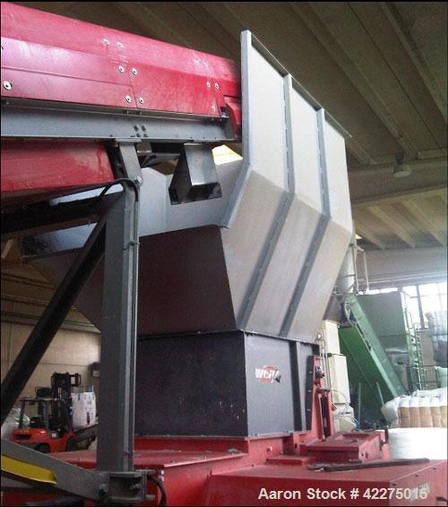 "Used-Weima WLK 1000 Shredder for hard plastics.  Infeed dimensions 39"" x 27"" (1000 x 1200 mm).  Volume 1.3 cubic meters.  Rp..."