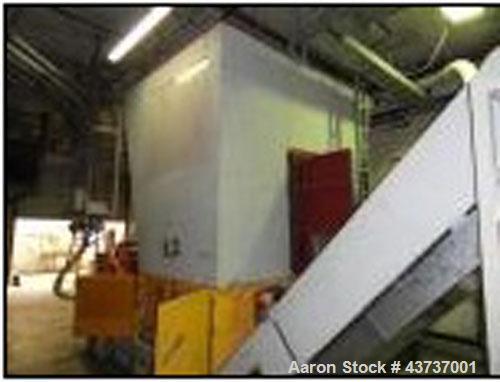 "Used-Weima WLK 15 Jumbo Single Roll Shredder, 100 hp / 75 kW, 50 hz.  Rotor diameter 11.8"" (300 mm), rotor length 4.9' (1500..."