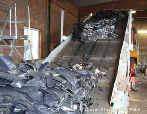 """Used-Weima Single Roll Shredder, type WLK 50. Material of construction is carbon steel. Main drive 82.5 hp/55 kW, 19.5"""" (500..."""