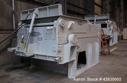 Used- Zeno Low Noise Single Shaft Shredder/Chipper, model ZTLP 1800 X 1600, carbon steel. Feed opening 70'' (1800mm) wide x ...