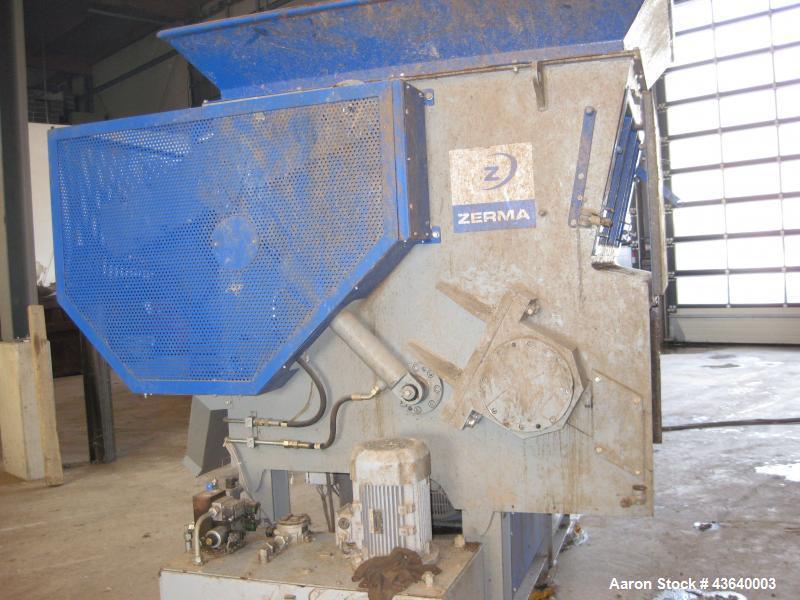"""Used-Zerma ZSS1200 Single Shaft Shredder.  Capacity 300 kg/h.  Shaft diameter 18"""" (457 mm), length 44.5"""" (1130 mm).  Motor 8..."""
