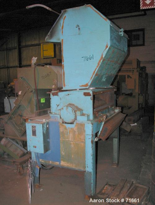"USED: Flinchbaugh grinder, model 1437. Approximate 14"" diameter x 37"" wide 3 bolt-on blade open rotor. Pelican style feed ho..."