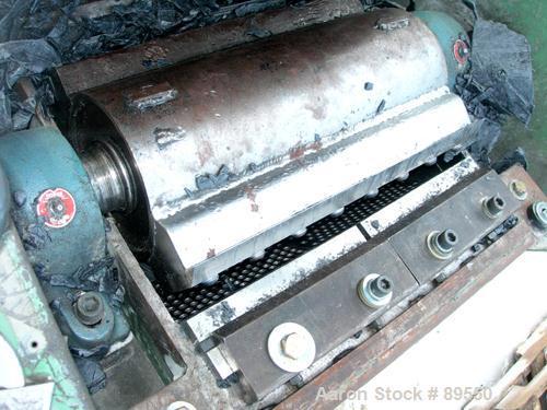 "USED: Allsteele granulator, model 1417. Approximate 14"" diameter x 17"" wide 2 bolt-on blade closed rotor, bed knives. Tilt b..."
