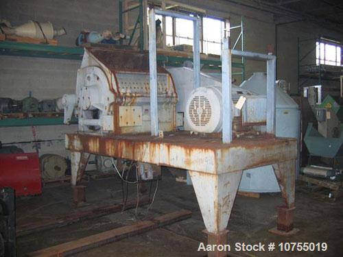 "Used-Alpine model 80/100 Rotoplex cutting mill. 30"", 40"" feed throat opening, 8 knife underslung rotor, driven by a 150 hp, ..."