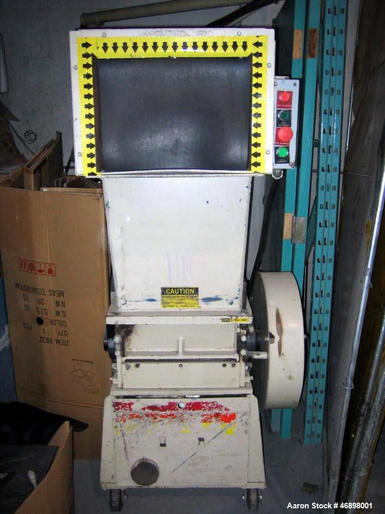 """Used- Ball and Jewel Grinder, Model 1216. 12"""" x 16"""" opening. Voltage 575-3-60, 12 HP. Last used to grind ABS, acrylic and pl..."""