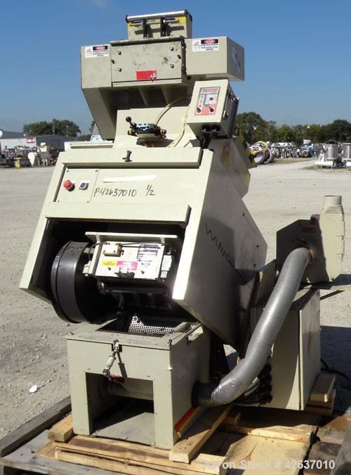 """Used- Ball & Jewel Vision Series Granulator, Model BP32. Approximately 12"""" diameter x 12"""" wide 3 bolt-on blade open rotor. T..."""