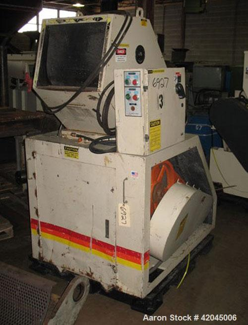 """Used- Ball & Jewel model CG1620S CS granulator, equipped with a 3 knife open rotor, two bed knives and a 16"""" x 20"""" cutting c..."""