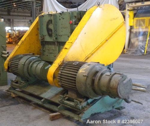 """Used- Ball & Jewell Granulator, Model HDB-3652. Approximate 52 1/4"""" long x 39 1/2"""" wide feed opening. Open rotor with bolt o..."""