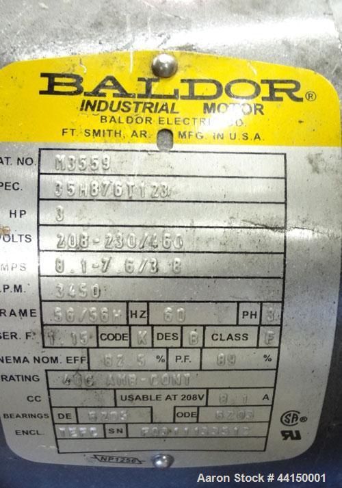 "Used- Ball & Jewell Sheet Granulator. Approximately 10"" diameter x 50"" wide 4 bolt-on blade closed rotor. Tilt back pelican ..."
