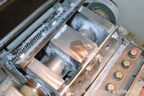 """Used- Battenfeld Gloucester Granulator, Model 1012BP7.5. Approximate 10"""" diameter x 12"""" wide 3 bolt on blade open rotor. Til..."""