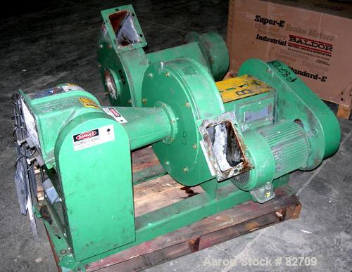 """USED: Blower Application trim cutter, model 7-6, carbon steel. 2 bolt-on blade open rotor. Max trim width 7.5"""", caliper rang..."""