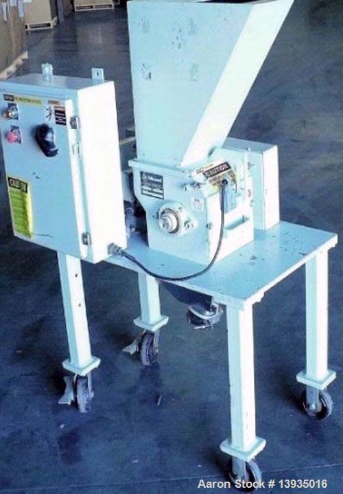 "Used-""Table Top Lab Size"" Granulator, Model BP-68-SCSX. 6"" x 8"" throat size opening, 3 hp, 3 rotor knives, 2 bed knives, 460..."