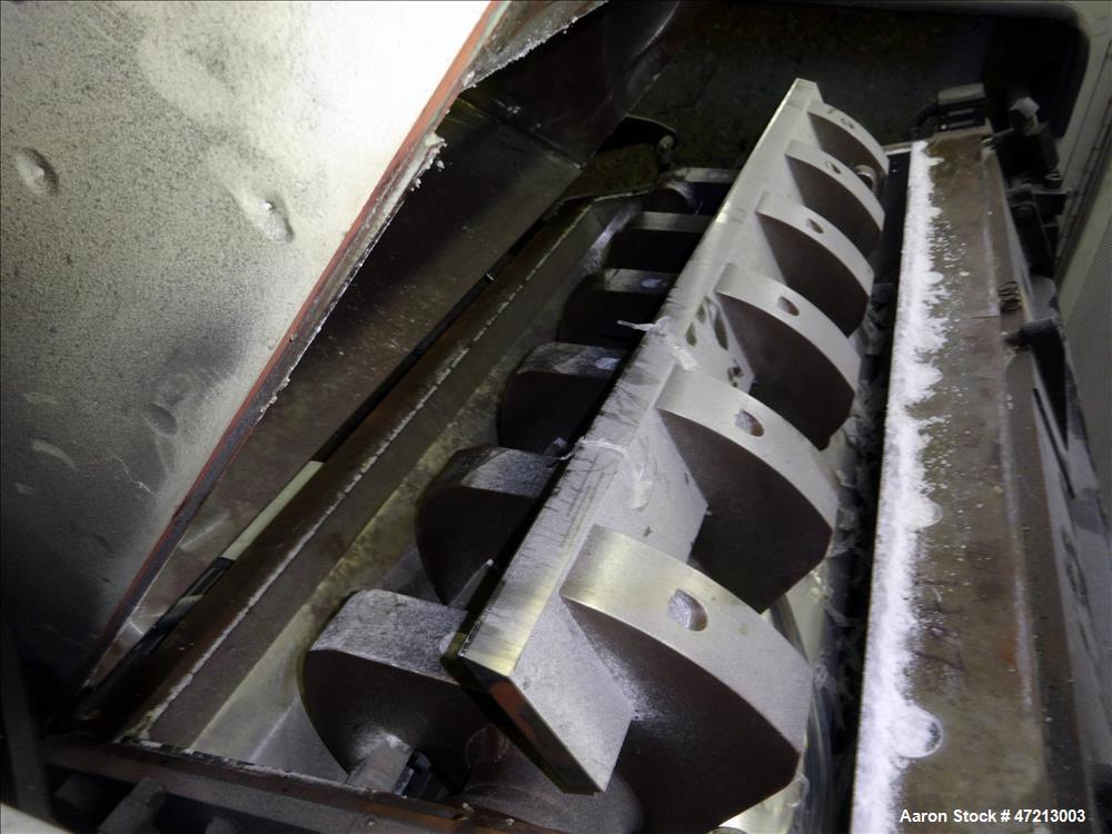 Used- Conair Tangential Feed Granulator, Model CG-1436, Carbon Steel.
