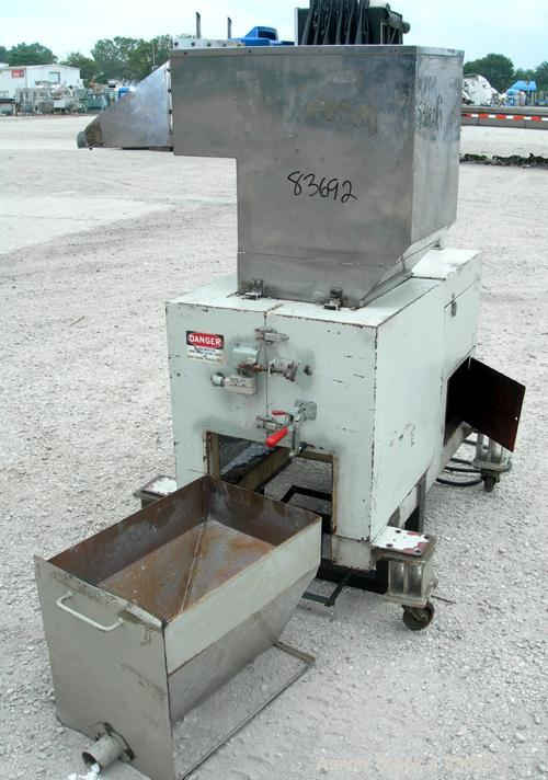 """USED: Conair/Wor-Tex granulator, model JC10. 10"""" diameter x 15"""" wide. (2) Rows of 6 bolt-on blade closed rotor, 2 bed knives..."""