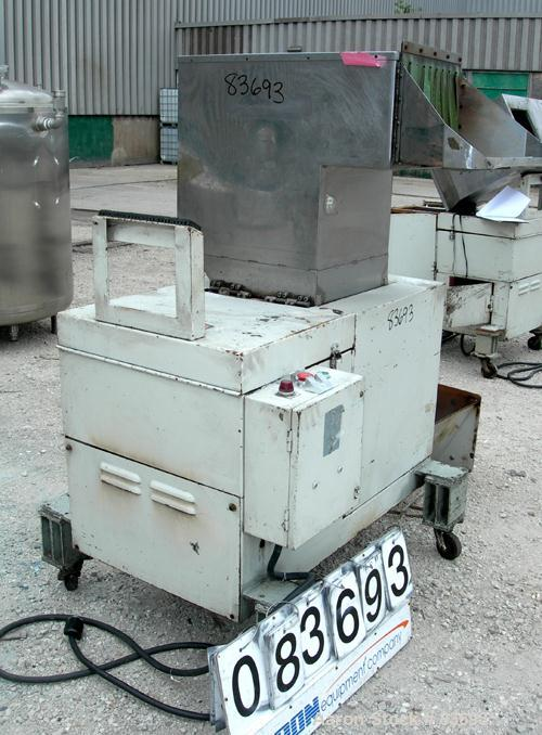"USED: Conair/Wor-Tex granulator, model JC10. 10"" diameter x 15"" wide involute parabolic segmented helical type rotor with 3 ..."