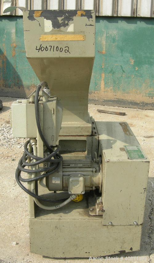 """Used- Conair/Wortex Granulator, model LP-330. Approximate 6"""" diameter x 7"""" long segmented helical type rotor with 3 rows of ..."""