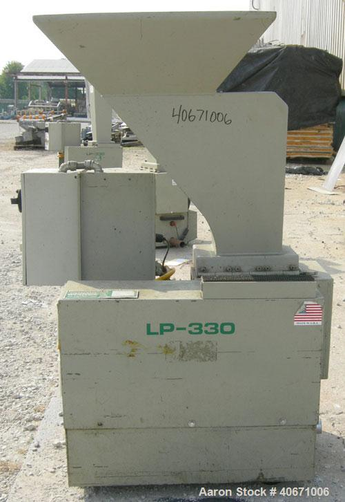 "Used- Conair/Wortex Granulator, model LP-330. Approximate 6"" diameter x 7"" long segmented helical type rotor with 3 rows of ..."