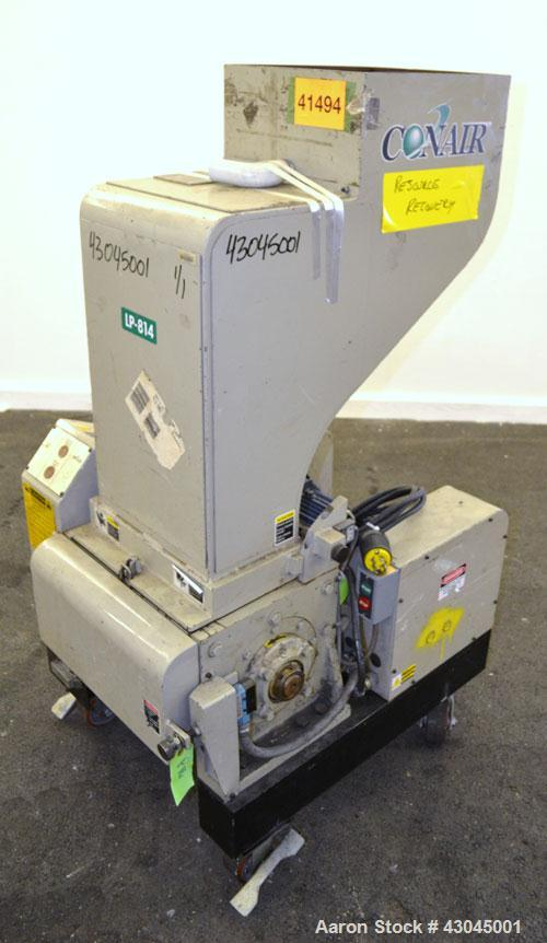 Used- Conair Granulator, Model LP-814, Carbon Steel. Involute parabolic segmented helical type rotor with 7 rows of blades. ...