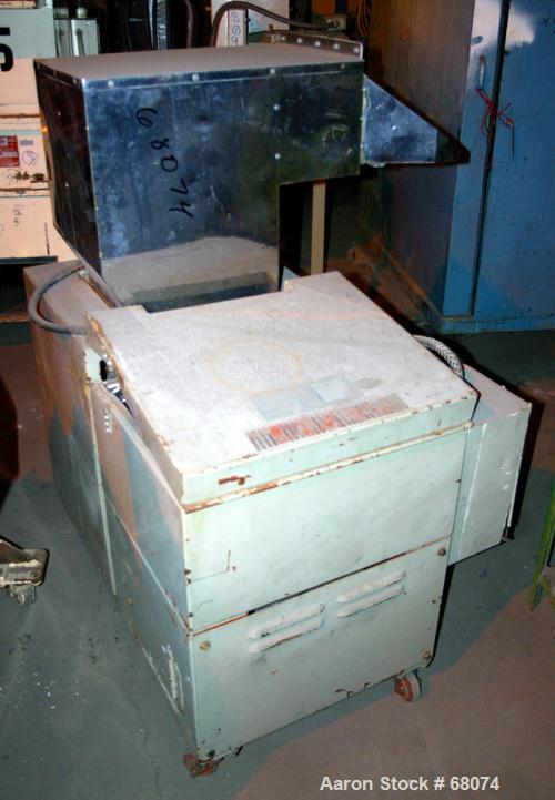 """USED: Conair Wortex granulator, model JC-52. 9"""" x 12"""" pelican style feed. 19"""" x 15"""" x 12"""" deep discharge drawer with a 2"""" di..."""