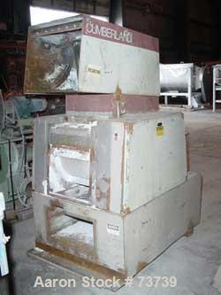 "Used- Cumberland Granulator, Model 14X16. 14"" Diameter x 16"" wide 3 bolt on blade open rotor. Pelican style feed hopper, bot..."