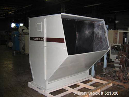 "Unused-Rebuilt Cumberland model 2072B granulator. 250 hp motor, 460 volt.20"" x 71"" feed throat, 7 knife steep angle open rot..."