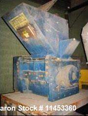"Used- Cumberland Granulator, 50 HP, Model 24. Granulator has a 14"" x 24"" feed opening, 3 knife open style rotor and 2 bed kn..."