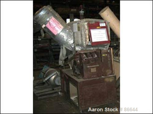 """Used- Cumberland Granulator, Size 284 GRAN 3KN. 10"""" x 12"""" Feed opening with 8"""" diameter side feed, 3 knife open rotor, appro..."""