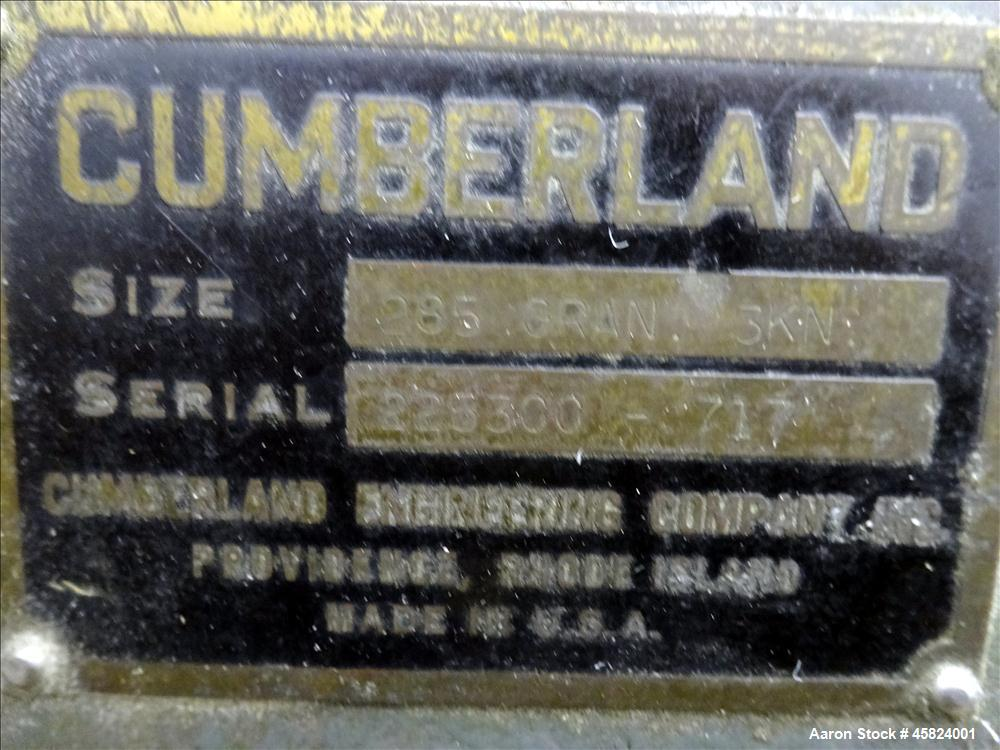 Used- Cumberland Granulator Model 285 3 Knife