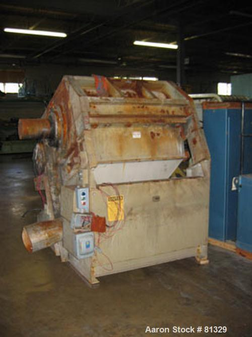 "USED: Cumberland model 3250B granulator. 32"" x 50"" feed throat, 25 knife semi-hog open rotor, 2 bed knife, 250 hp 460 volt m..."