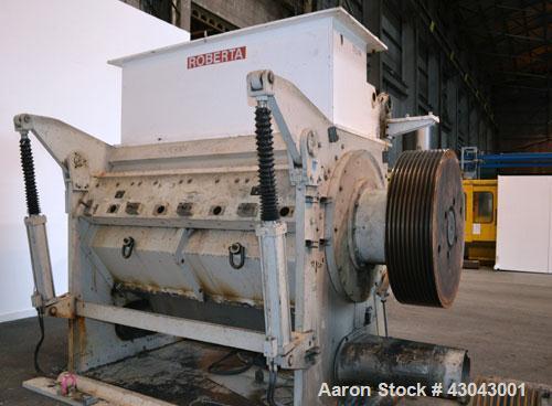 "Used- Cumberland Series 3200 Granulator, Model 3284, Carbon Steel. 32"" x 84"" Throat size, 36'' diameter cutting circle, bolt..."