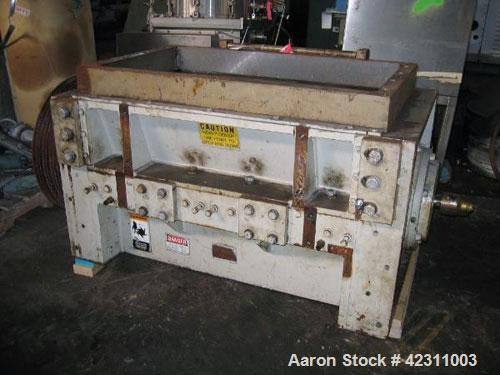 "Used- Cumberland Granulator Body Only, Model  37B. 21"" x 37"" feed opening, no hopper.  5 Knife open rotor, core rotor with r..."
