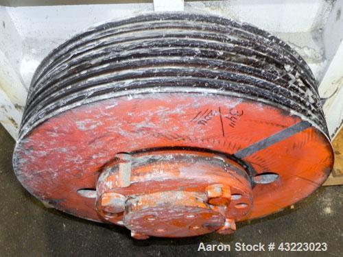 Used- Cumberland Granulator, Model 37B. 21-1/4'' x 37-7/16'' Feed opening with hopper. 16'' Diameter cutting circle, 3 rows ...