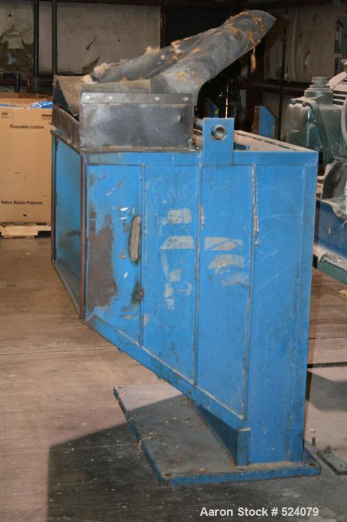 "USED: Cumberland granulator, model 37B. 18"" x 37"" opening. 5 knife open rotor, 2 bed knives, 100 hp motor, Gaylord style dis..."