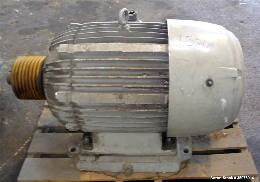 """Used- Cumberland Granulator, Model 50 Gran. 7KN. Approximate 50"""" x 25"""" feed opening with a bolt on hopper. Approximate 25"""" d..."""