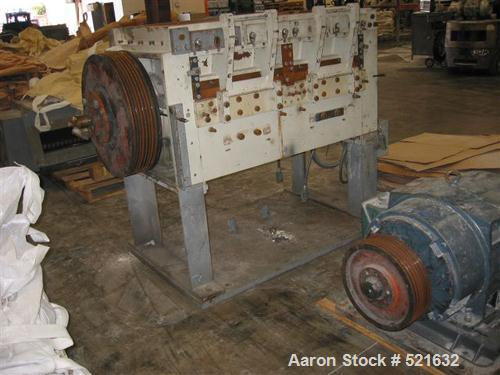 "USED: Cumberland granulator, model 50F. 20"" x 50"" opening, new feed hopper, 8 knife solid rotor, 2 bed knives, 150 hp motor,..."