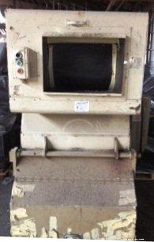 "Used- Cumberland Granulator, Model 585-3KN.  Approximately 20"" x 14"" feed opening with tilt back feed hopper. Approximately ..."