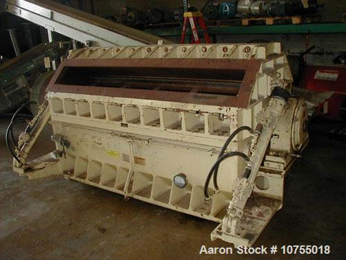 "Used-Cumberland model X1400 granulator. 24"" x 56"" feed throat, 7 knife twin shear rotor, 2 bed knife, 150 hp, 460 volt motor..."