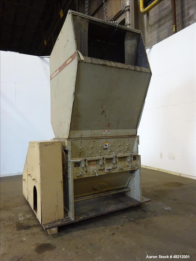 "Used- Cumberland X-Series  Granulator,  Model X1400. Approximate 24"" x 56"" feed throat with a tilting feed hopper. 5 Knife t..."