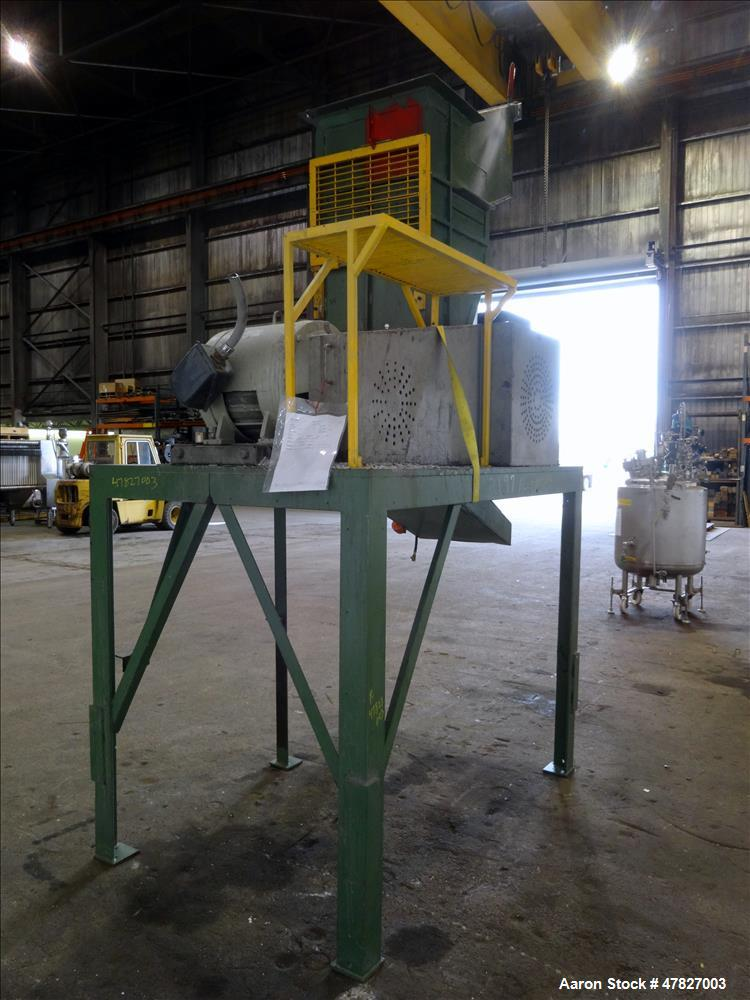 "Used- Grinder, 3 Knife Open Rotor, Approximate 24"" x 18"" Feed With Tilt Pelican"
