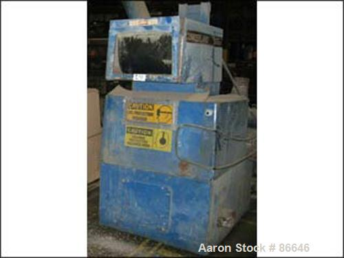 "USED: Cumberland granulator, 12"" x 20"" feed opening, with 6"" diameter side feed, 3 knife open rotor, with approximate 20 hp ..."