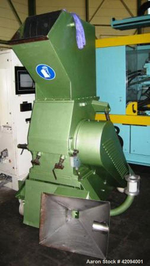 "Used- Dreher S34/41 GFS Granulator, 25 hp/18.5 kW motor, rotor diameter 13.4"" (340 mm) and length 16"" (410 mm). (3) Rotating..."